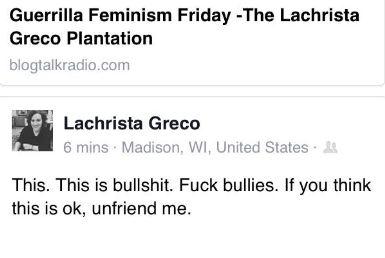 she's bullied